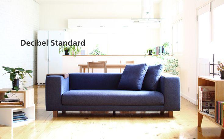 硬めのスクエアローソファ「Decibel Standard 3人掛け」|ソファ専門店 NOYES
