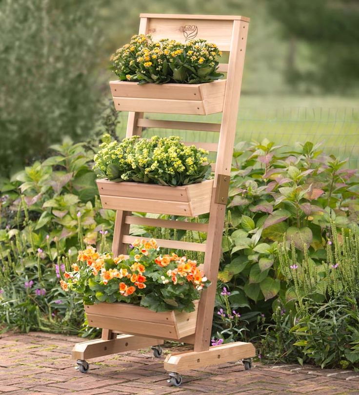 Red Cedar Vertical Gardening System with Casters gives you 4.5 linear feet of of planting space in one compact footprint. Rolling design is easy to position. Go vertical with your gardening!