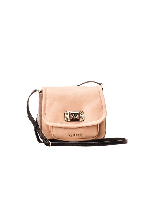 Guess Telos Mini Crossbody Flap, stone 83,00 € www.fashionstore.fi