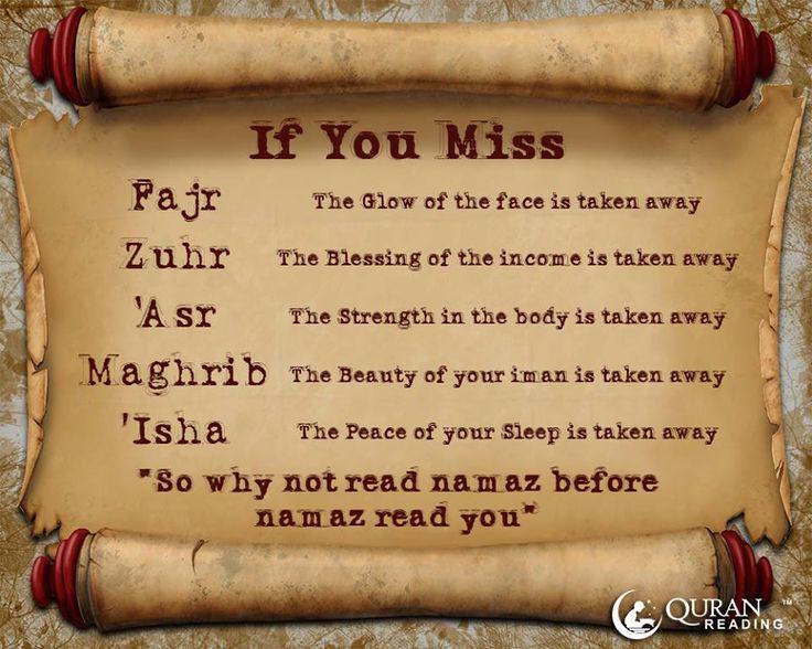 Read Namaz before namaz read you #salah
