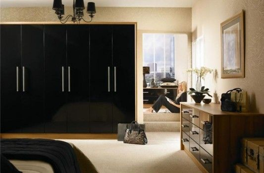nuvo-black-high-gloss-slab-wardrobes-minimalist-design-1 - Easy Decor