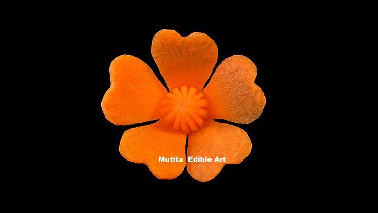 Carrot Butterfly Petals Shape | Beginners Lesson 119 | Mutita Edible Art...