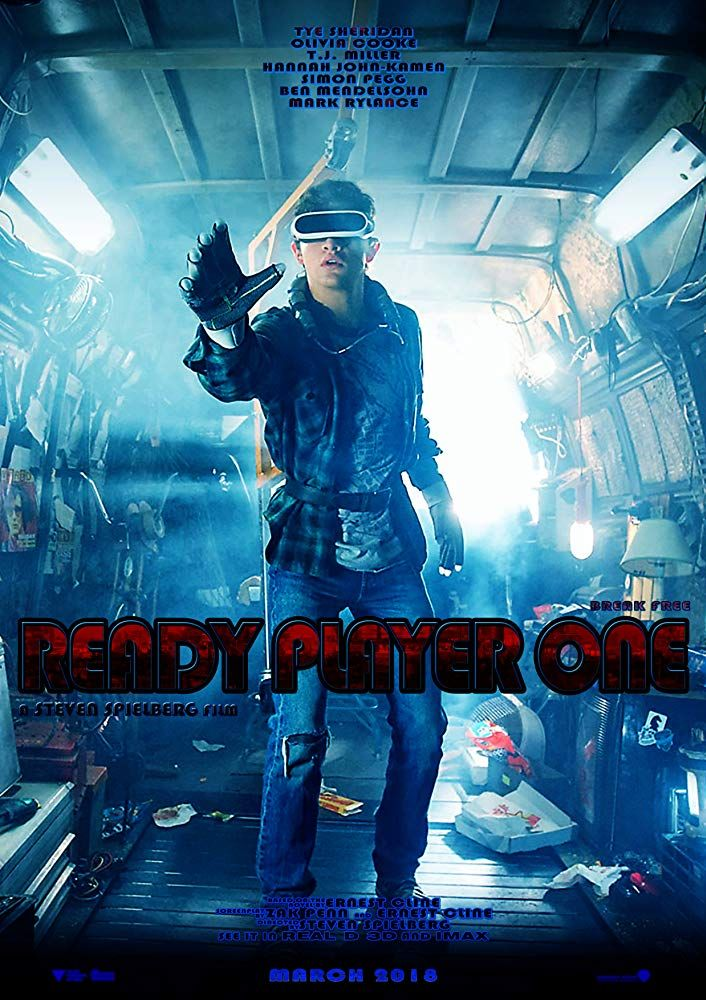 READY PLAYER ONE 3D (2018) R1 Custom Blu-Ray Cover & Label
