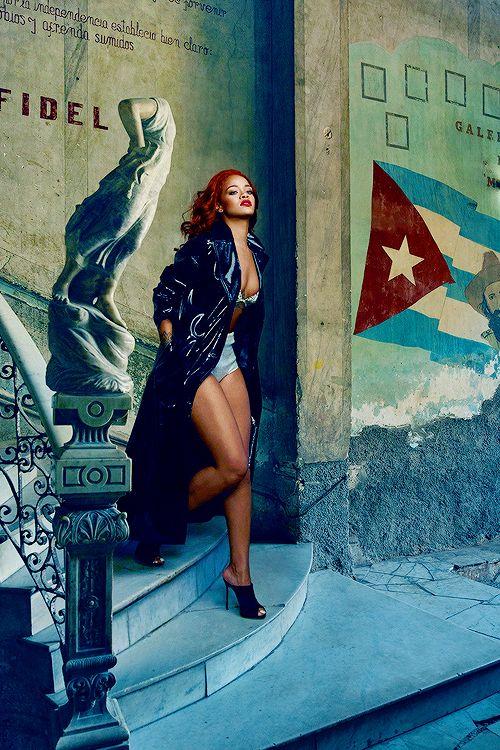 Rihanna photographed by Annie Leibovitz for Vanity Fair Magazine