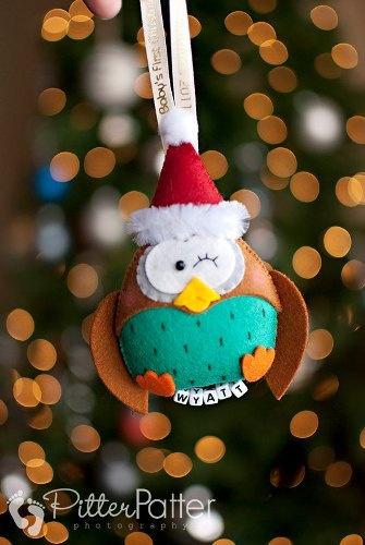 Personalized Santa Owl for stocking stuffer