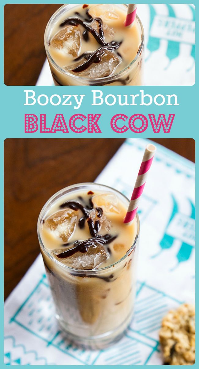 How to make a Boozy Bourbon Black Cow - from @kitchenmagpie