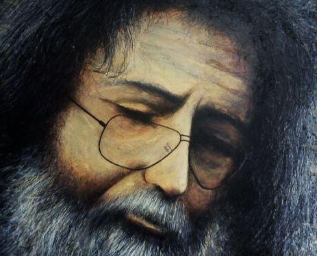 Jerry Garcia - mixed media