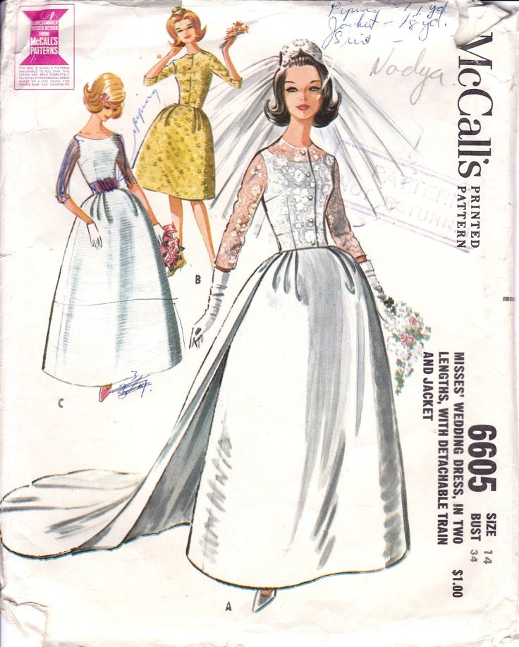 Detachable Trains Knee High: 1960's, Size 14, Button Front Sleeveless Wedding Dress In