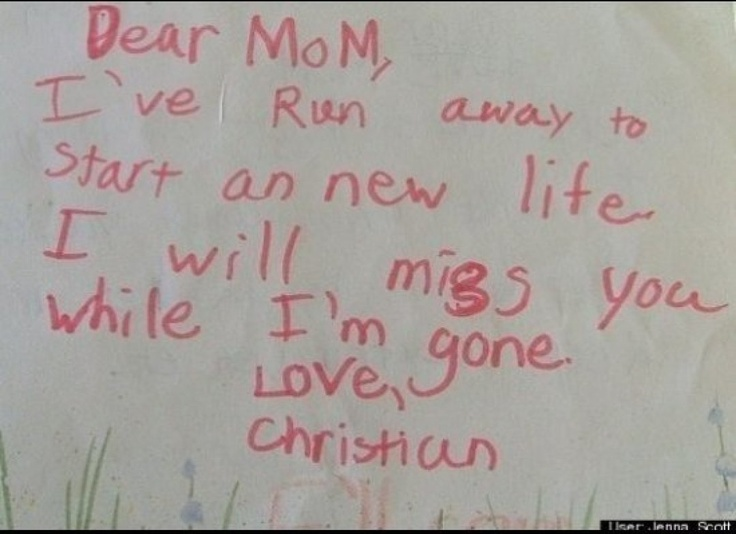 Image result for Hilarious Notes Written By Kids