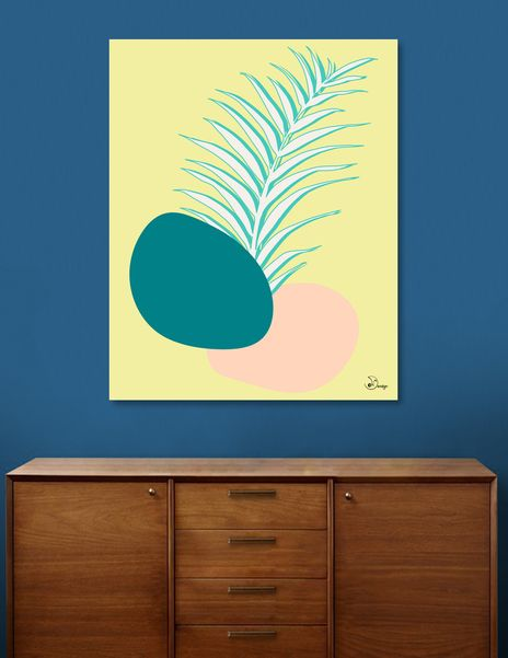 Discover «Spring Palm», Numbered Edition Canvas Print by DesigndN - From 55€ - Curioos