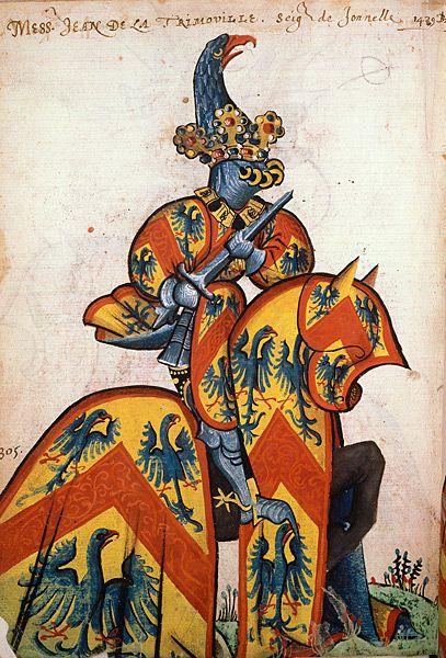 Jean de La Tremouille, Grand Armorial équestre de la Toison d'Or, Flandres, 1430-1461.