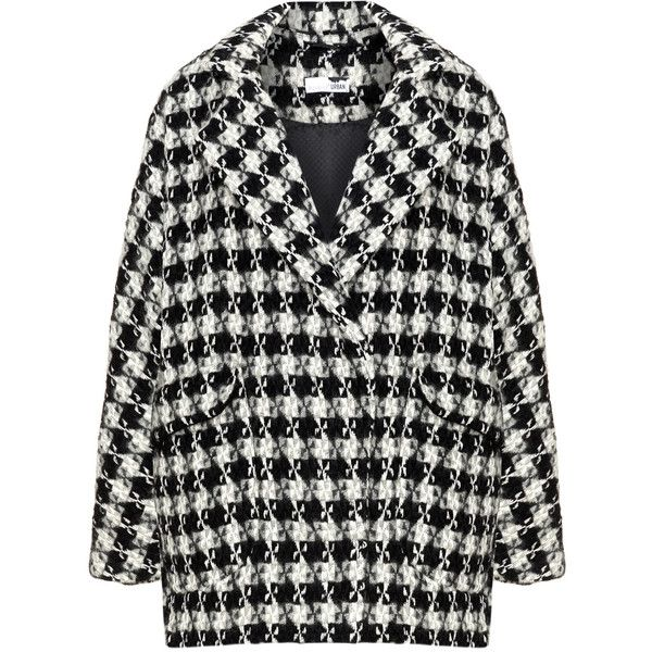 Boheme Black / White Plus Size Graphic patterned coat (225 CAD) ❤ liked on Pol... 13