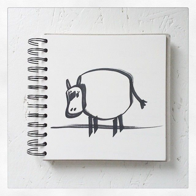 Muh Muh. Du fette Kuh.   #illustration #cow #black #white #animal #Art #artist #artistoninstagram #myownwork #artistsontumblr #sketch #sketching #sketchbook #creative #creativity #simple #draw #drawing #Painting #paint #edding