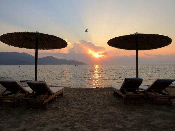 Sunset at Limenas beach