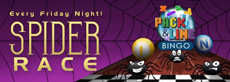 Spider Race games at #BingoSpirit from 8:00PM till 9:00PM EDT tonight starting pot of $13.00 acard cost $0.25  #bingo