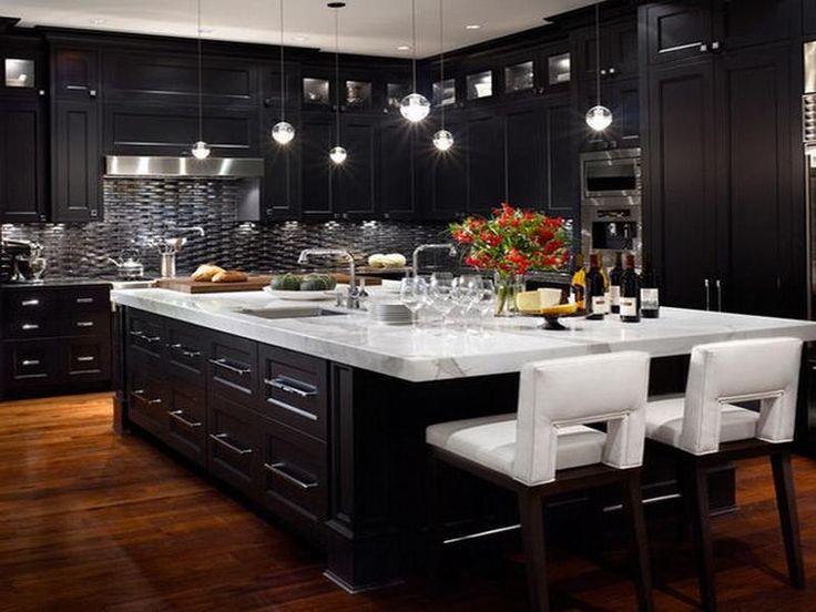 Modern Black Kitchen Cabinets Best 25 Black Kitchen Cabinets Ideas On Pinterest  Kitchen With .