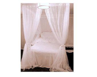 Romantic Wedding Night Bed Canopy Custom Size by TheFiligreeFern