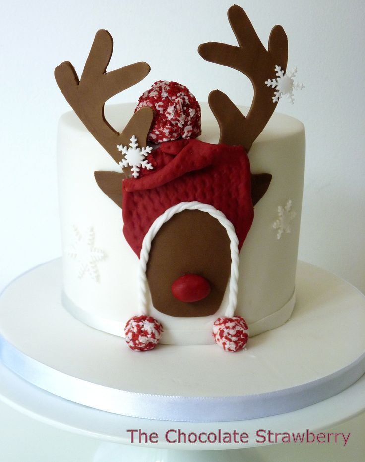Chocolate Cake Christmas Design : 1000+ ideas about Christmas Cake Decorations on Pinterest ...
