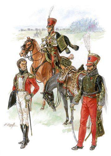 Colonnello con aiutanti di campo francesi
