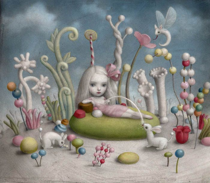The Land of Milk and Honey by Nicoletta Ceccoli, my new favorite artist, such beautiful and imaginative work!