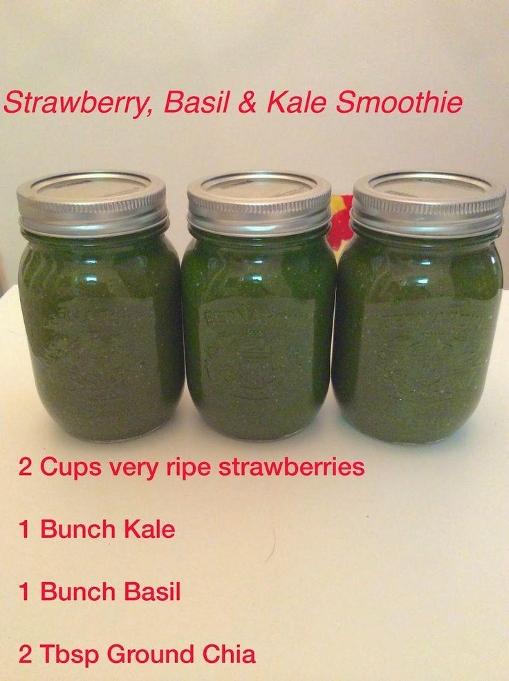 Strawberry, Basil & Kale Smoothie