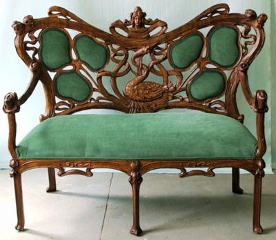 vintage art deco furniture. art nouveau sofa vintage deco furniture d