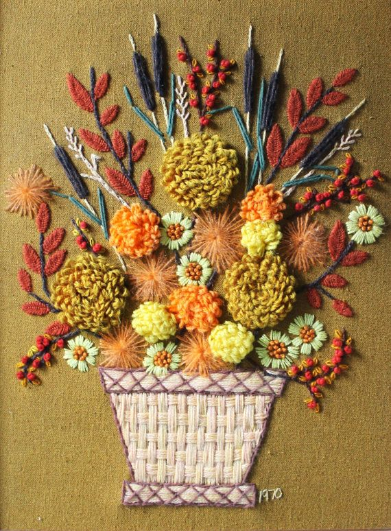 Autumn embroidery