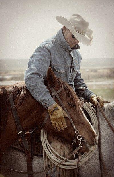 Cowboy and his horse. #ranchlife