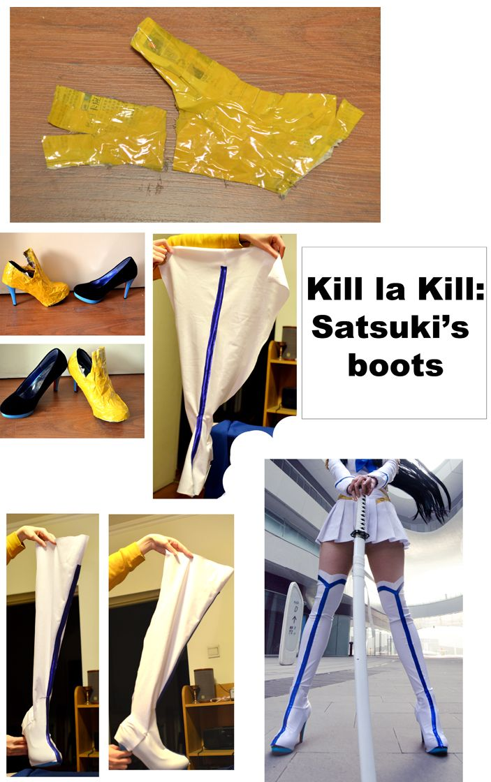We've been asked a lot about how we made boot covers for our Satsuki cosplay, so we decided to scrap together the (unfortunately) few photos we've made during the process and try to say something helpful about it.