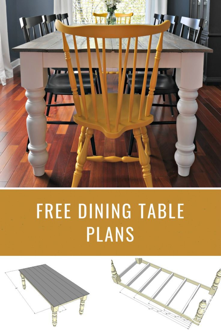 Use Theses Free Farmhouse Dining Table Plans To Build Your Next