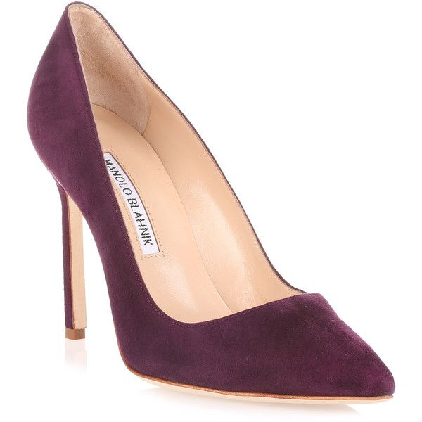 bb105 Purple Suede Pump (8.873.950 IDR) ❤ liked on Polyvore featuring shoes, pumps, purple, purple pointy toe pumps, suede pointed-toe pumps, purple pumps, pointed toe high heel pumps and high heel pumps