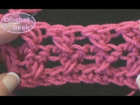 Simple Crochet - How to make the Crochet X CrossOver - Cross Stitch - YouTube