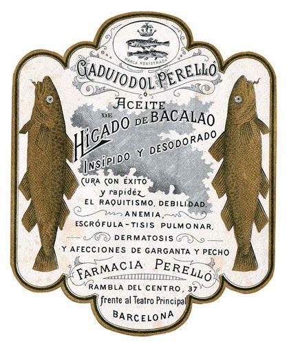 Aceite de Higado de Bacalao Tipologia: Etiqueta Artista: desconegut Impressor: Any: