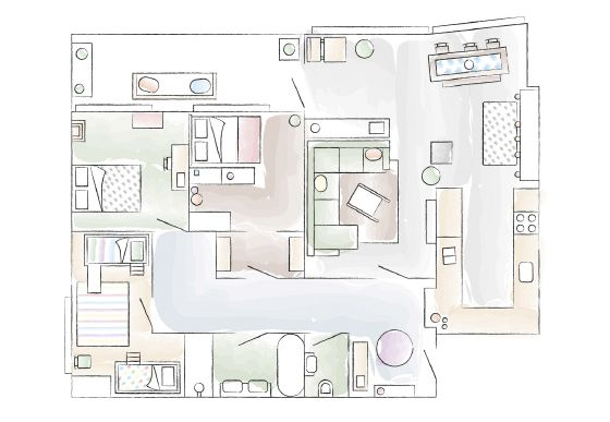 Floorplan – Denise and Nicole's Vienna home