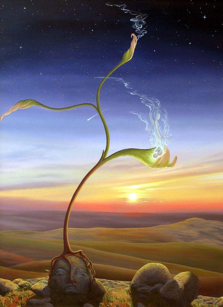 Seeding by Manon Potvin - Germination par Manon Potvin #surreal #magical realism