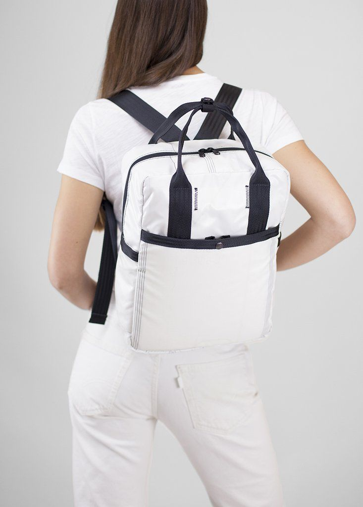 This backpack is made from AIRBAGS and SEATBELTS! The are truly the BEST  bags for the planet. 0a95420e03