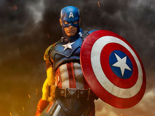 #Marvel Premium Format Captain America From Sideshow Toy #Marvel