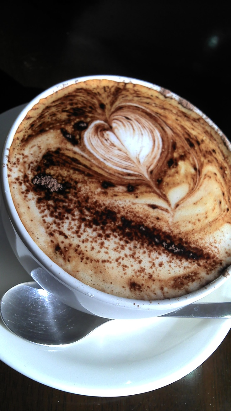 lovely coffee heart