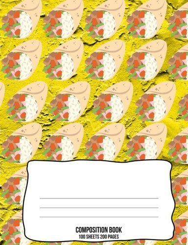 burrito 5x5 graph paper composition book burritos lover carry and