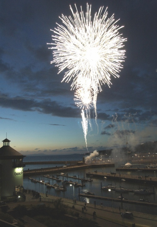 Fireworks at Whitehaven, UK