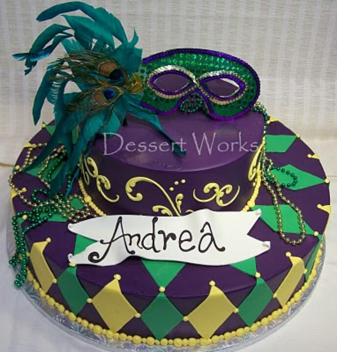 9 Best Mardi Gras Bday Cake Ideas Images On Pinterest Cake Ideas