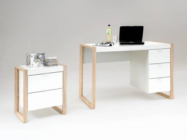 Bureau bois et blanc luxueux bureau blanc et bois e baju table