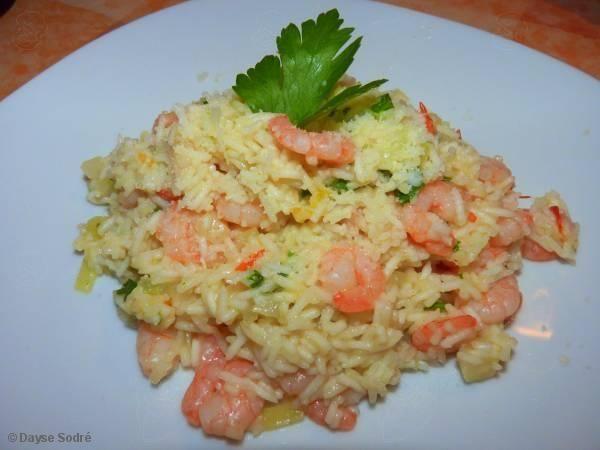 Receita de risoto cremoso de camarão - Show de Receitas