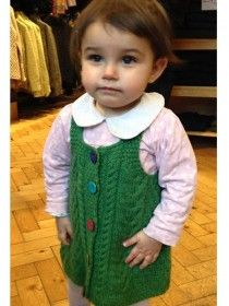 Aran Baby Pinafore Dress 100% Merino Wool A221