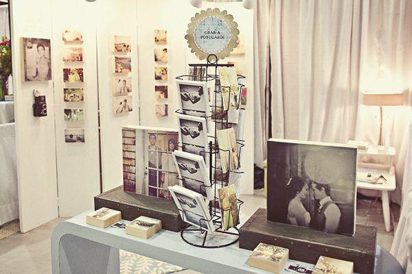 "Love the ""grab a postcard"" idea for wedding fairs/events!"