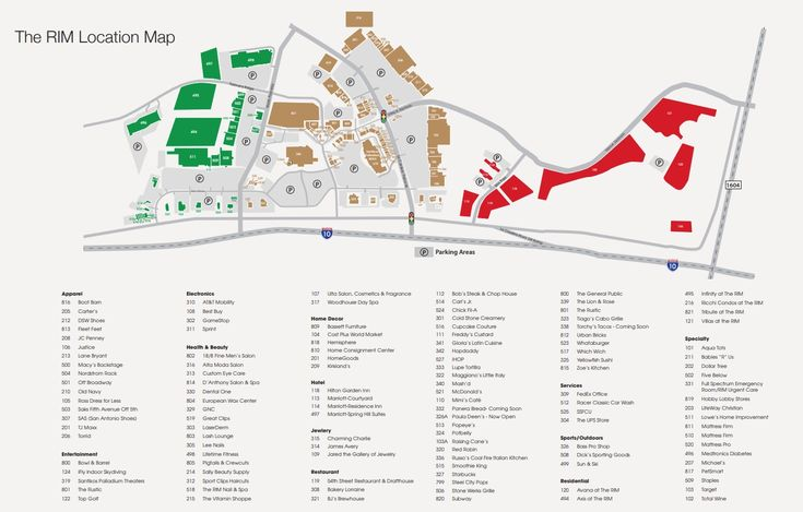 The Rim Shopping Center shopping plan | Shopping center ...