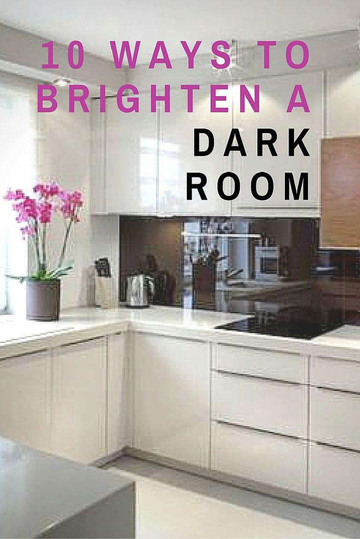 10 Classic Ways To Brighten A Dark Room Dark Living Rooms Dark