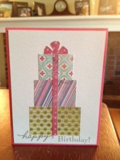 Handmade cards for any occasion Super fast card! Bow on top is a quick flower cute out of your choice!