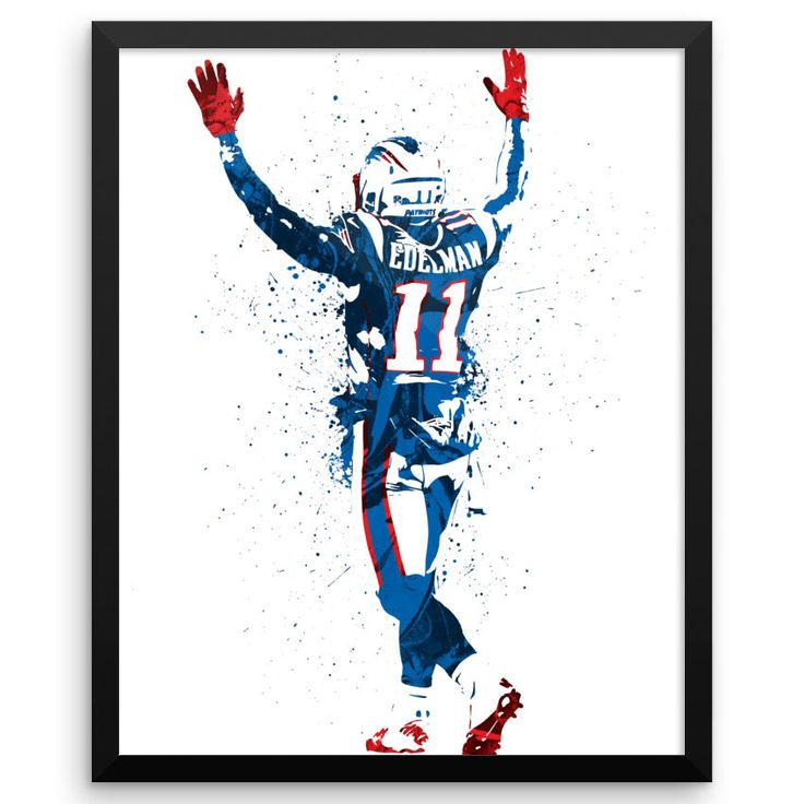 Julian Edelman poster. Edelman is an American football wide receiver for the New England Patriots of the National Football League (NFL). He was drafted by the Patriots in the seventh round of the 2009