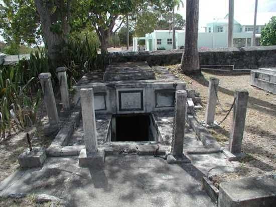 10 Creepiest Graves on listverse.  This is the Chase Vault, where the coffins moved on their own.